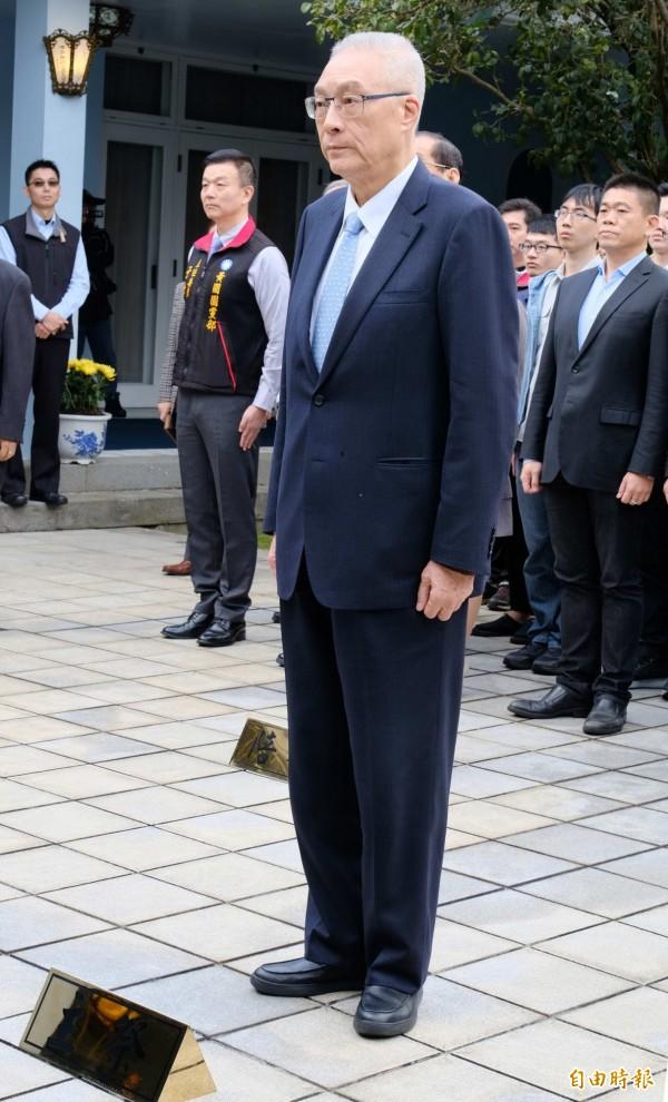 吳敦義對蘇貞昌組新內閣,期許能開發新的氣象,不分中央跟地方,不分在野跟在朝,造福全體國人。(記者李容萍攝)