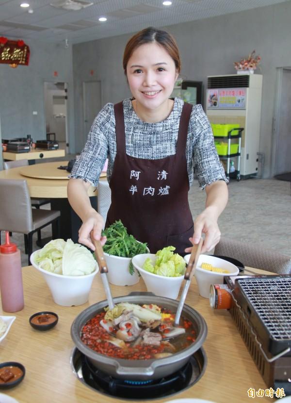 阿清羊肉爐湯頭傳承三代祖傳風味,很受老饕喜愛。(記者陳冠備攝)