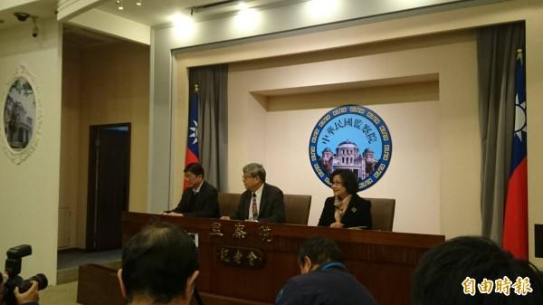 監察院今天針對台大校長管中閔在擔任政務官期間違法兼職,以7比4通過彈劾案。(記者鍾麗華攝)