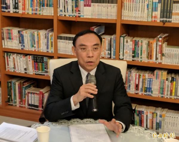 法務部長蔡清祥支持虐童應加重刑責。(記者吳政峰攝)