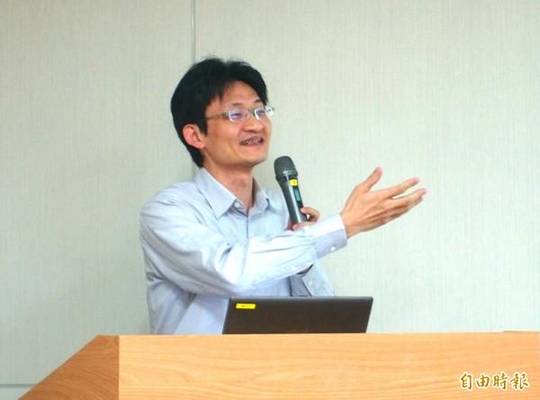 中研院社會所副研究員林宗弘。(記者簡惠茹攝)