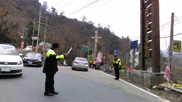 和平分局配合武陵農場櫻花季,將加強交通疏導。(記者歐素美翻攝)