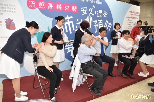 彰化基督教醫院呼籲民眾防流感與肺炎,應及早接種肺炎鏈球菌疫苗。(記者湯世名攝)