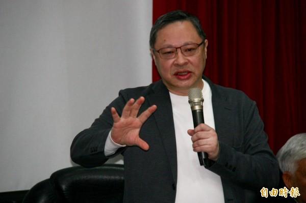 香港大學法律系副教授戴耀廷今受訪時呼籲,港台兩地公民社會應集結串聯,共同對抗中共銳實力入侵(記者彭琬馨攝)