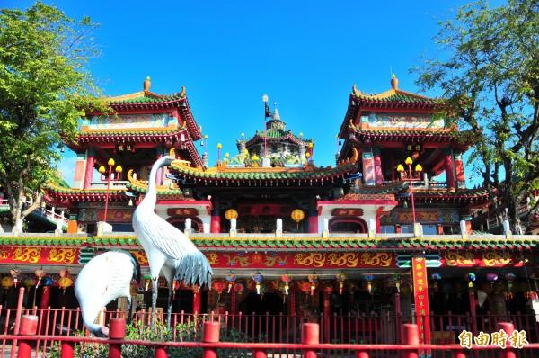 花蓮吉安鄉「天上王母娘娘本宮」勝安宮,是全台王母信仰發源地。(記者花孟璟攝)
