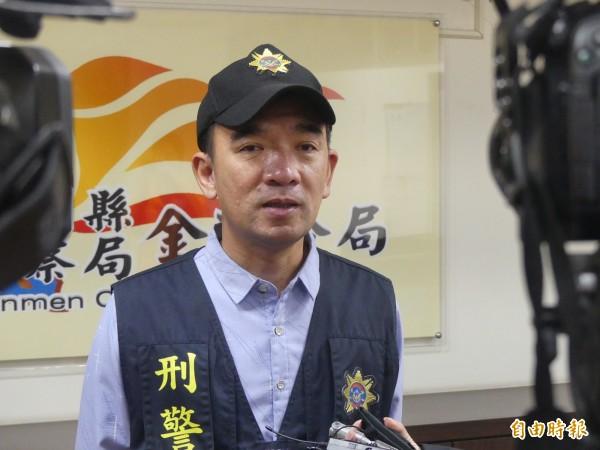 金城分局偵查隊長蔡其豪說,姑侄衝突案仍在調查中,釐清案情後移送檢方。(記者吳正庭攝)