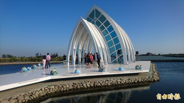 北門水晶教堂。(記者楊金城攝)