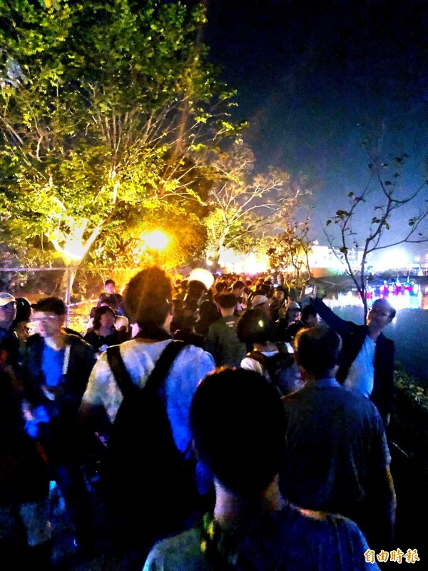 春節9天連假,月津港燈節吸引超過40萬人次參觀。(記者劉婉君攝)