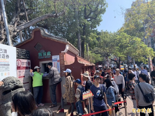 台南市4大收費古蹟區春節總營收創下歷史新高。(記者劉婉君攝)
