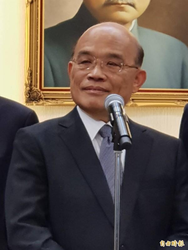 行政院長蘇貞昌(見圖)盼華航爭議儘速落幕。(資料照,記者李欣芳攝)