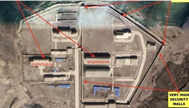 中國在西藏建築中的勞改集中營。(取自 The Print網站)