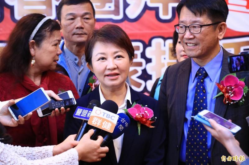 盧秀燕認為能夠幫國家找到好的領導人、能夠勝選更為重要。(記者張軒哲攝)