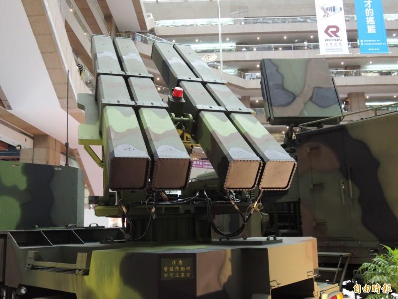 陸射型劍二防空飛彈系統。(記者羅添斌攝)