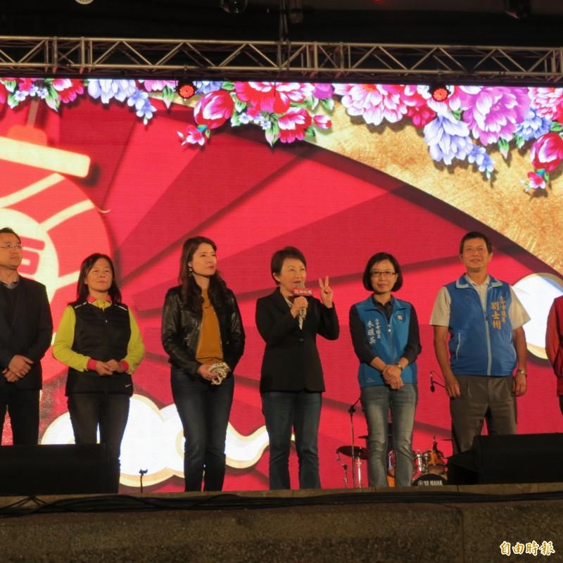 中台灣元宵燈會今晚點燈。(記者蘇金鳳攝)