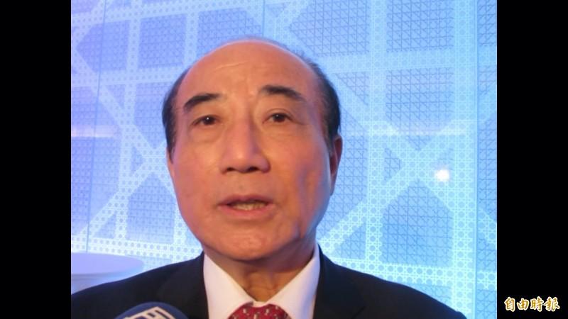 吳敦義出招「初選贏家兼黨魁」,王金平:非常有創意,但這次初選不易達成。(記者蘇孟娟攝)