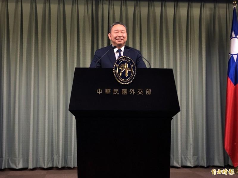 外交部拉美司司長俞大㵢出席例會。(記者呂伊萱攝)