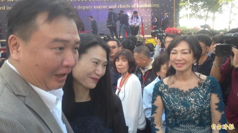 許立明曾偕妻子出席韓國瑜就職典禮。(資料照,記者黃旭磊攝)