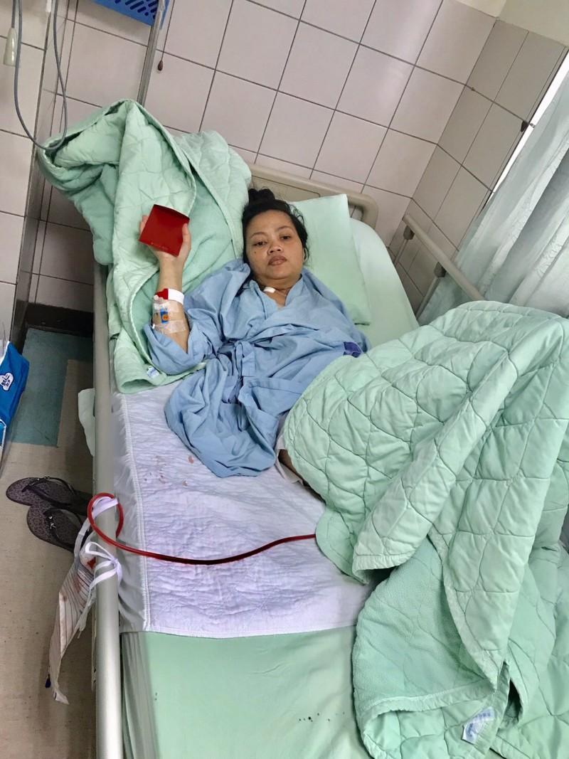 來台擔任看護工的阿寶罹子宮頸癌末期。(記者顏宏駿翻攝)