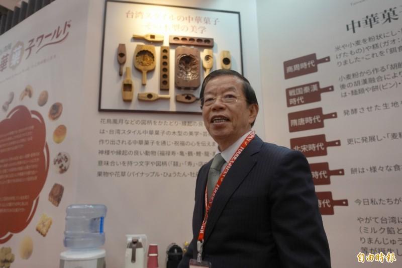 駐日代表謝長廷5日參加「2019東京國際食品展」台灣館的開幕典禮接受訪問時表示,不具名的發言都是捕風捉影。  (記者林翠儀攝)