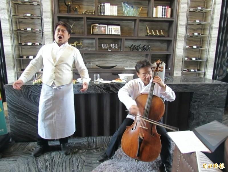 張正傑舉辦義大利麵對決牛肉麵親子音樂會,讓親子感受到聽音樂會是趣味、好玩能親近的饗宴。(記者蘇孟娟攝)