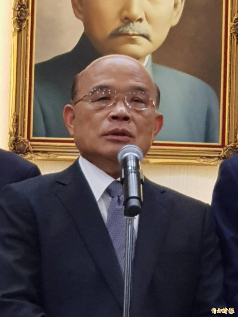 藍綠立委補選激戰,蘇揆將替民進黨台南第二選區候選人郭國文輔選。(資料照,記者李欣芳攝)