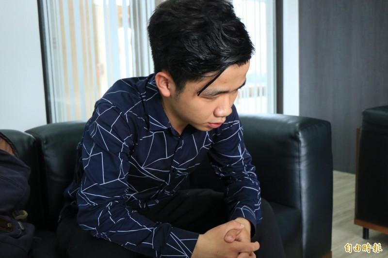 李家寶在台研習只到7月,屆時勢必離境,他說,若無法留在台灣,會尋求國際幫助,同時呼籲台灣儘速落實難民法立法。(記者萬于甄攝)