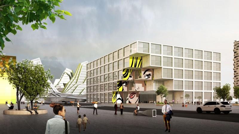台灣土地開發公司看好花蓮觀光業未來成長契機,今天舉行新天堂樂園「樂多坊(Fun House)旅館」開工典禮。(台開公司提供)