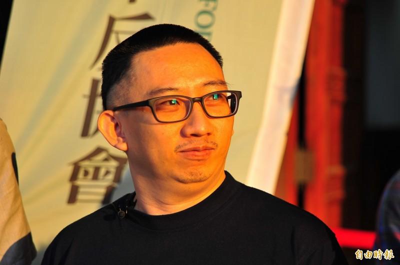 謝志宏結束19年、6843天的羈押,重獲自由。(記者王捷攝)