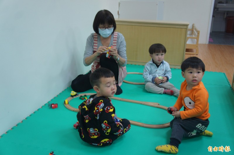 光榮托嬰中心可收25名幼童,現僅收10位。(記者劉禹慶攝)