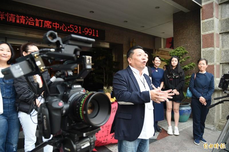 知名導演王重正籌備三年的好戲「大林學校」在高雄開鏡拍攝。(記者張忠義攝)