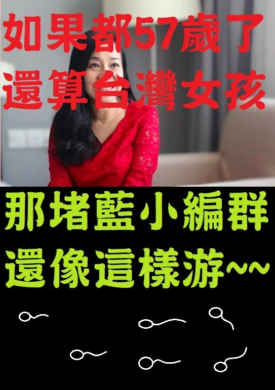57歲台籍政委稱台灣女孩,只是堵藍小編很有意見。(記者王榮祥翻攝)