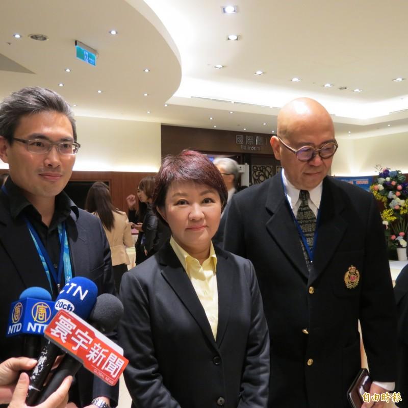 盧秀燕表示,這次立委補選結果,跟明年總統選舉有連動關係。(記者蘇金鳳攝)