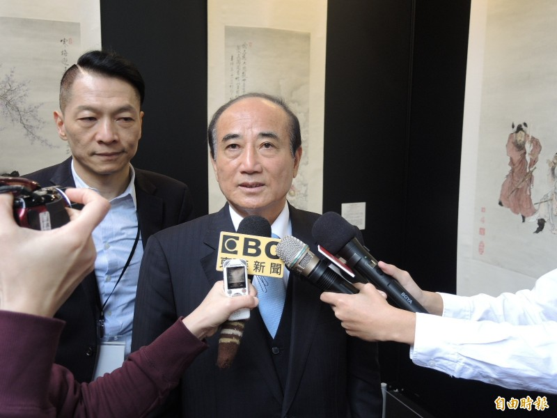 王金平重申對自己有信心,參選2020「能夠一關跨過一關」。(記者翁聿煌攝)