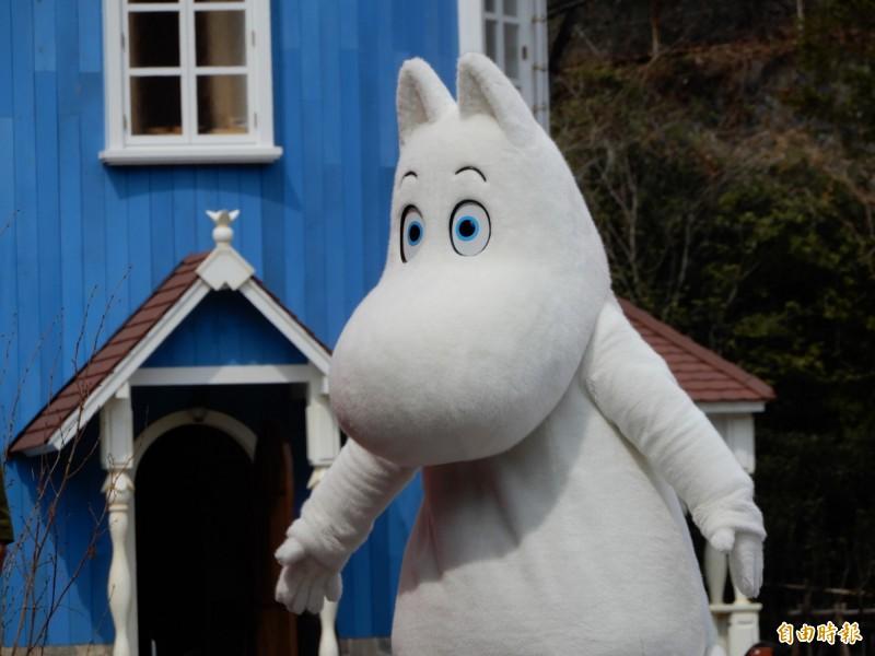 在姆米谷樂園可以見到姆米等童話明星。(記者林翠儀攝)