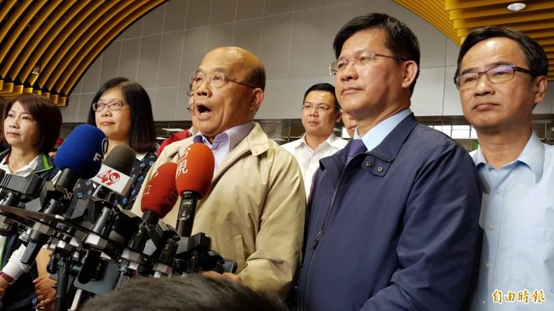 針對這次立委補選結果,行政院長蘇貞昌今表示,民進黨稍微止血,應更謙卑做好執政。 (記者陳文嬋攝)
