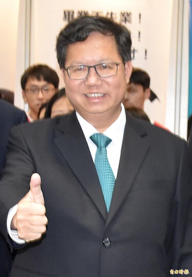 立委補選守住2席,桃園市長鄭文燦認為要讓民氣累積,民怨減少,民進黨再起的唯一選擇。(記者李容萍攝)