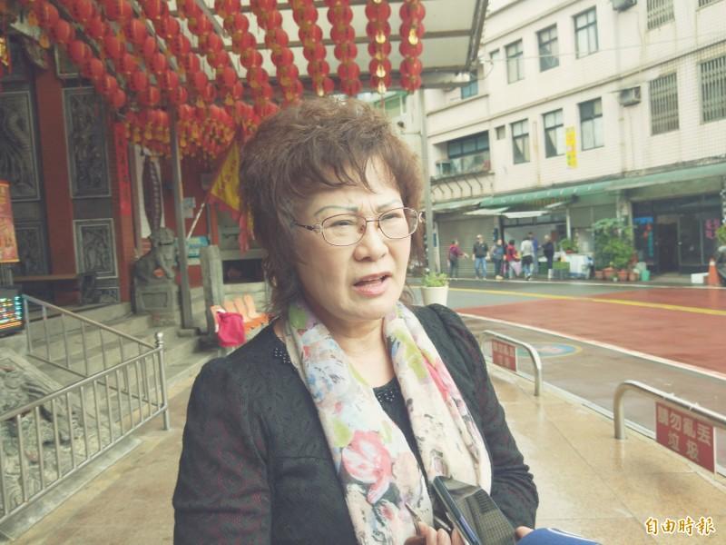 當地的台灣全國觀光商圈聯盟總會總會長蔡濬宇說,,蔡英文和賴清德都是民進黨最優秀的人,她認為,賴清德雖然是萬里人的光榮,但應該先由蔡英文總統連任,這樣才能兩全其美。(記者俞肇福攝)