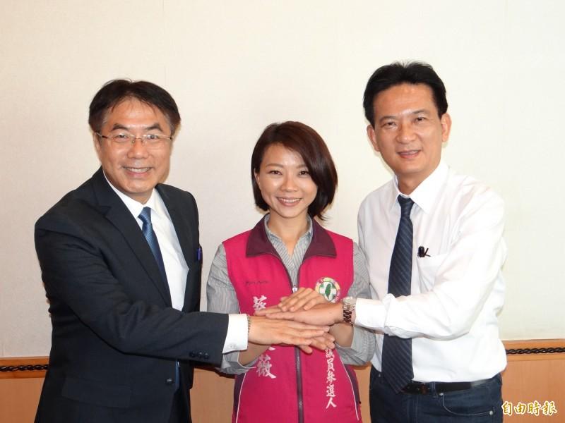 立委林俊憲(右)說理解賴清德對台灣情勢的憂慮、盼支持者看到黨內良性競爭。(資料照,記者王俊忠攝)