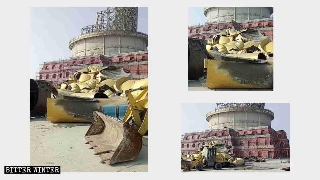 仙堂山景區銅坐佛被拆除後的碎片。(取自《寒冬》雜誌)