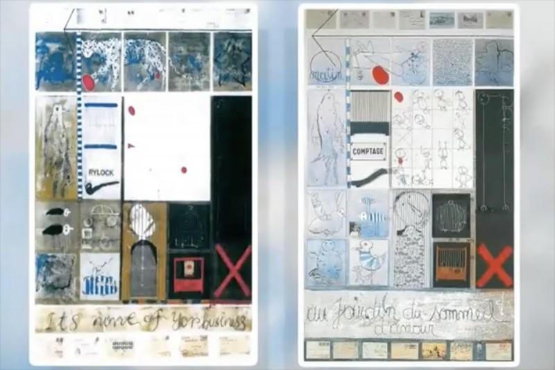 其他相似作品:葉永青(左)、Christian Silvain(右)。(擷取自網路)