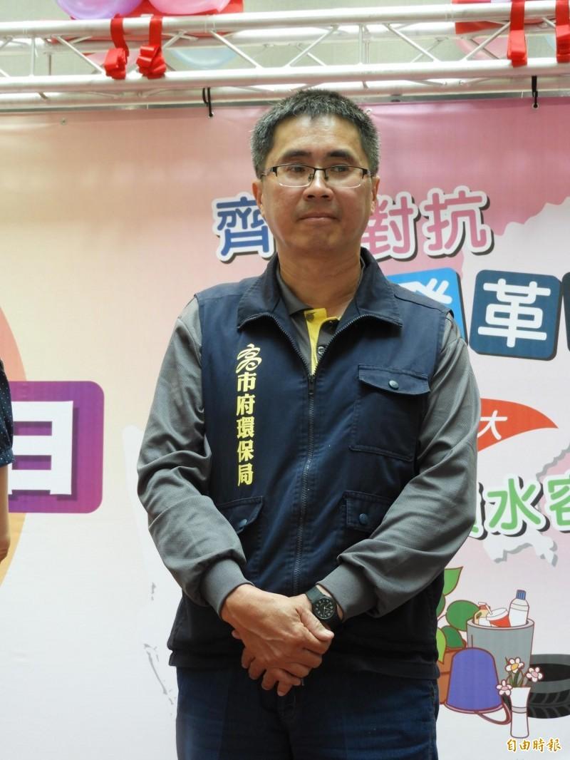 遭韓國瑜飆罵「什麼態度」的官員,證實是環保局副局長謝汀嵩。(記者葛祐豪攝)