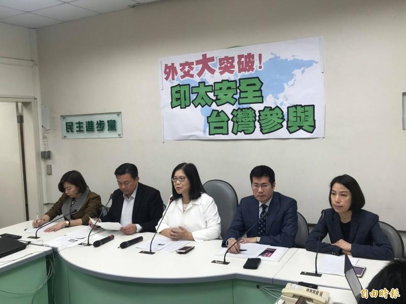 台美共同召開記者會 綠委:台灣重大外交突破