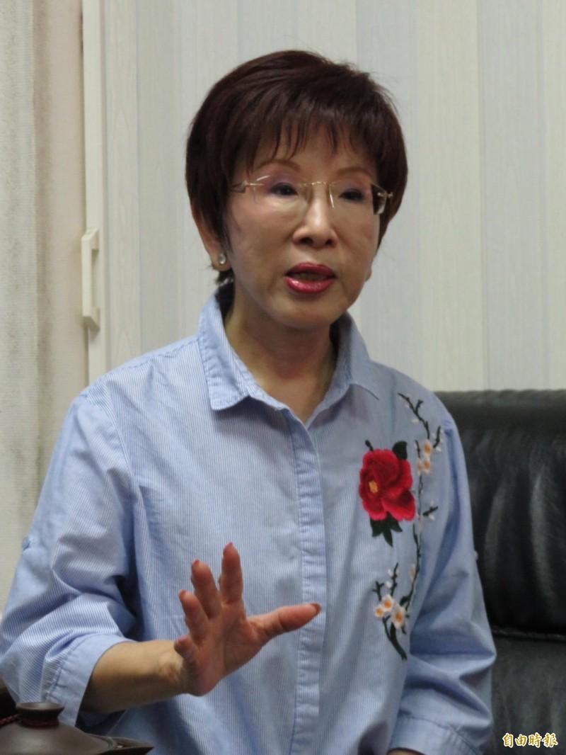 國民黨前主席洪秀柱說,特赦阿扁是違法的,不可有這機會。(記者何玉華攝)