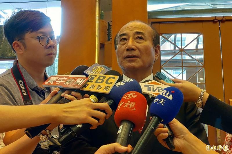 前立法院長王金平說,他做的民調比別人準,對自己有信心。(記者張菁雅攝)