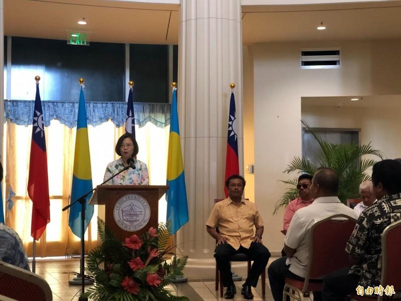 蔡英文訪帛琉 參眾議會聯合決議文挺台