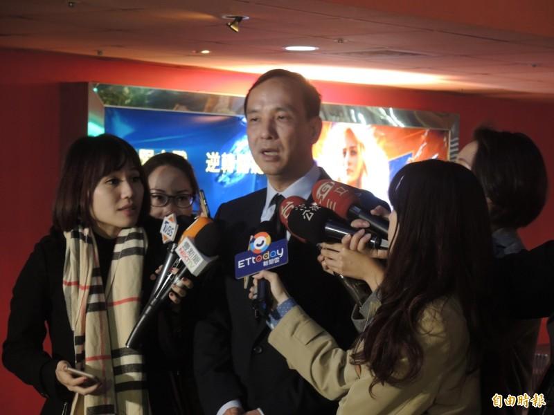 朱立倫指出,國民黨團結就是希望能夠改變台灣、改善兩岸關係。(記者周湘芸攝)