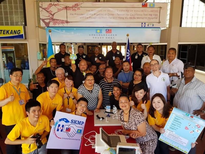 新光醫院捐贈手術室給帛琉國家醫院。(新光醫院提供)