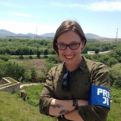 遭中國官員威脅的《頁報》亞洲專欄記者茱莉亞・龐皮利(Giulia Pompil)。(取自推特)