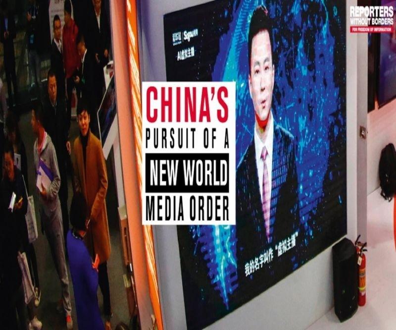 無國界記者組織指出,台灣是中國不實資訊主要操作目標。(圖擷取自無國界記者組織網站)