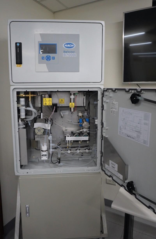環保單位查緝廢水偷排使用之水質監控預警系統。(環保署提供)
